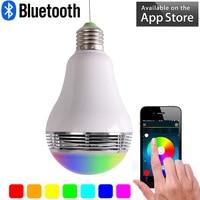Najnowszy E27 Żarówka Led Smart Wireless Bluetooth Speaker 110 V-240 V 5 W Lampy Audio Dla Androida iPhone iPad