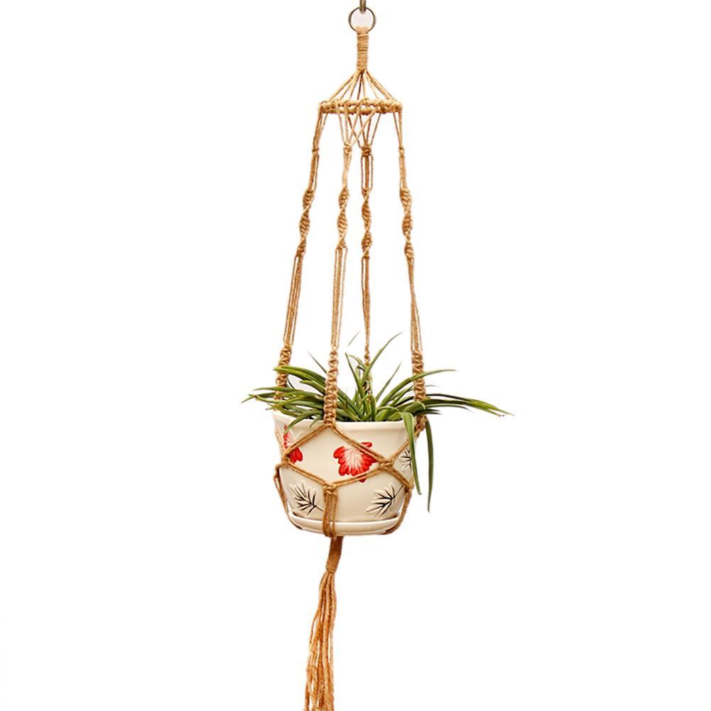 Garden Plant Hanger Basket Cotton Linen Rope Pots Holder Net Flower Pot Plant Lanyard #BW