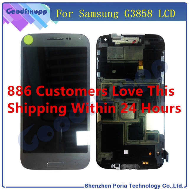 For Samsung Galaxy Beam 2 G3858 LCD Display With Frame Touch Screen Digitizer Assembly Phone Replacement