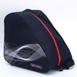 BIG Thick Professional Ice Ski Snow Boots Bag Skate Helmet Portable Carry Shoulder Bag Non-slip For Snowboard Accessories Black