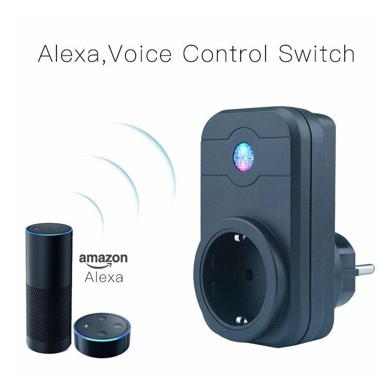Domotique Téléphone Télécommande Minuterie Contrôle Commande Vocale Wifi Prise Intelligente prise de Travail avec Google maison Amazon Alexa