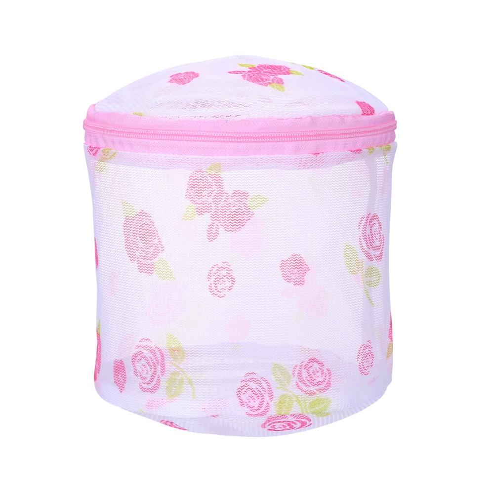 1PC Floral Women Hosiery Bra Lingerie Washing Bag Mesh Laundry Basket  Pouch Storage Washing Net Mesh Zip Bag