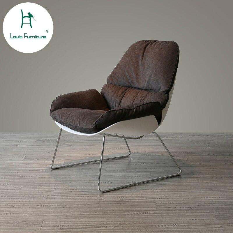 Chair Sofas Living-Room High-Furniture Nordic Danish Fashion Soft Cloth Single Louis