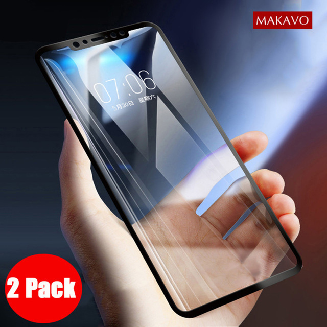 de045a723e3f01 2 Packs For Xiaomi Redmi Note 6 Pro Tempered Glass 9H Explosion-proof Screen  Protector