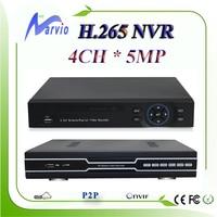 Nuovo arriva 4CH 5MP 3MP 1080 P H.265 network video recorder NVR full HD HDMI VGA uscita compatibile con H.264, spedizione gratuita