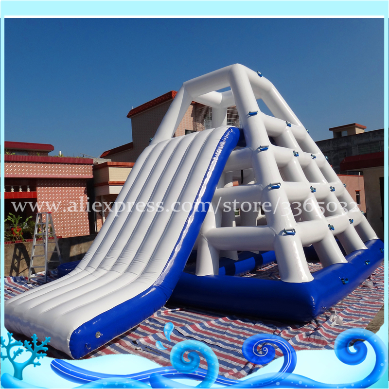 Hot Adult Giant Inflatable Floating Water Slide / Inflatable Sea Water Park For Sale цена