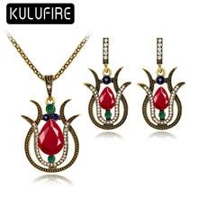 KULUFIRE Vintage jewelry sets colar masculino brinco bijoux enfant conjunto joyas para novias joyas africanos