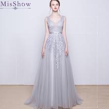 Vestido De Festa Longo Short Evening Dress Long Tulle Lace Formal gown Backless evening dresses prom dresses robe de soiree 2019