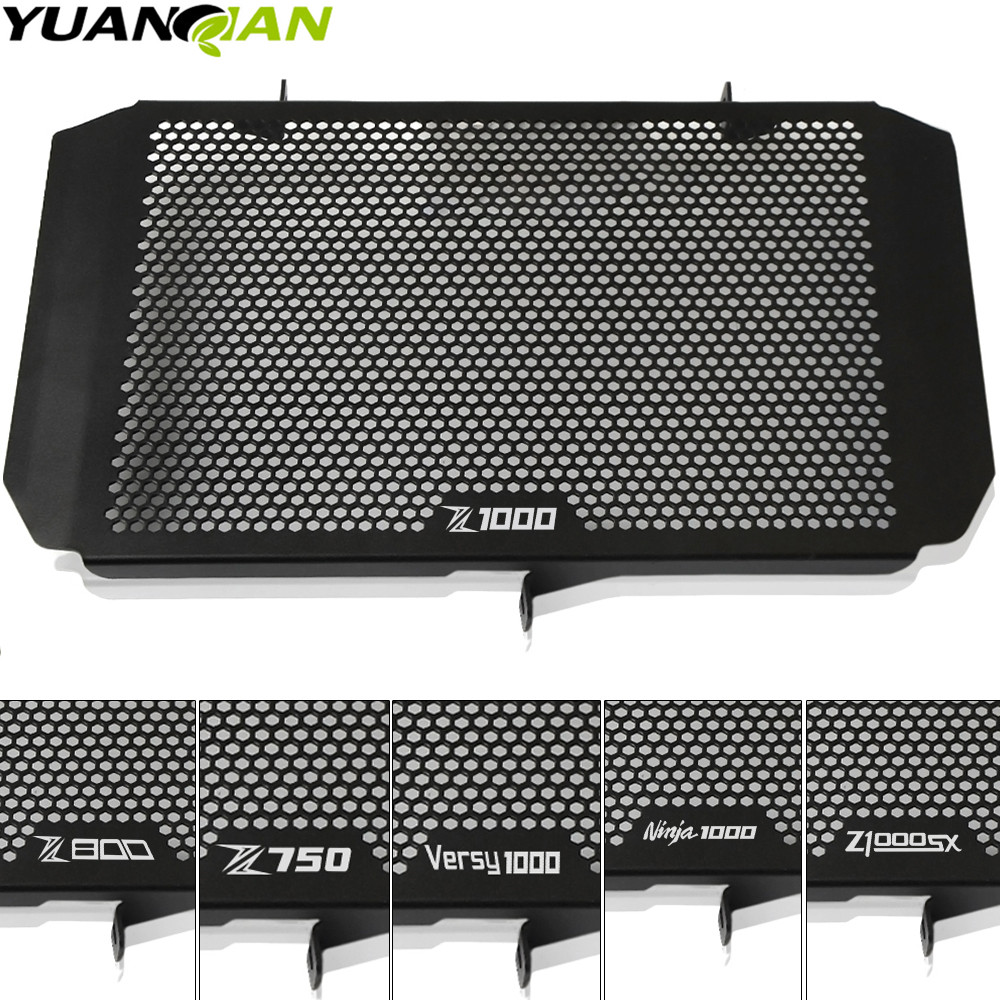 for kawasaki Motorcycle Radiator Guard Protector Grille Grill Cover For KAWASAKI Z750 Z800 Z1000 Z1000SX NINJA 1000 versy 1000 stainless steel radiator frame grill grille cover for kawasaki vulcan vn 1500 1700