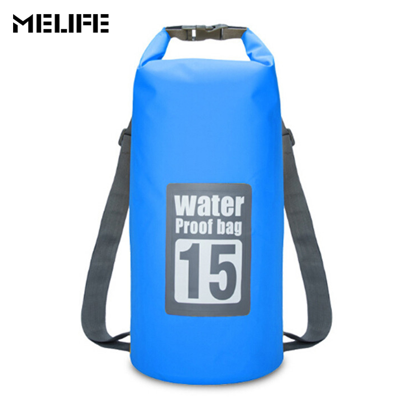 b981bd197764 MELIFE Waterproof Swimming Bags Dry Bag Canoe Kayak Rafting Outdoor Sport  Bags Travel Kit Equipment Ocean