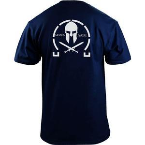 Image 2 - Männer Klassische Molon Labe Grafik T Shirt Doppel Seite Neue Sommer Mode männer Einfache Kurzen Ärmeln Baumwolle Anpassen T shirts