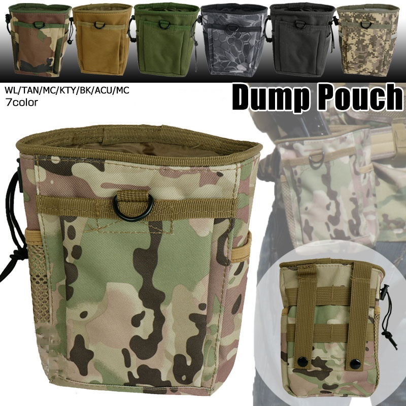 CQC Military Airsoft Tactical Molle Magazine Dump Drop Pouch Outdoor Hunting Waist Bag Pack Recovery Ammo Mag Bags