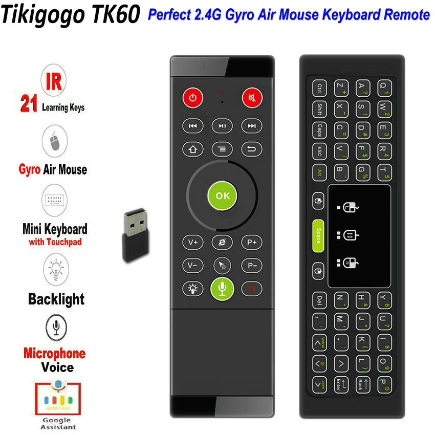 Warm Color Backlight 2.4G Wireless Fly Air Mouse Remote For TV BOX PC