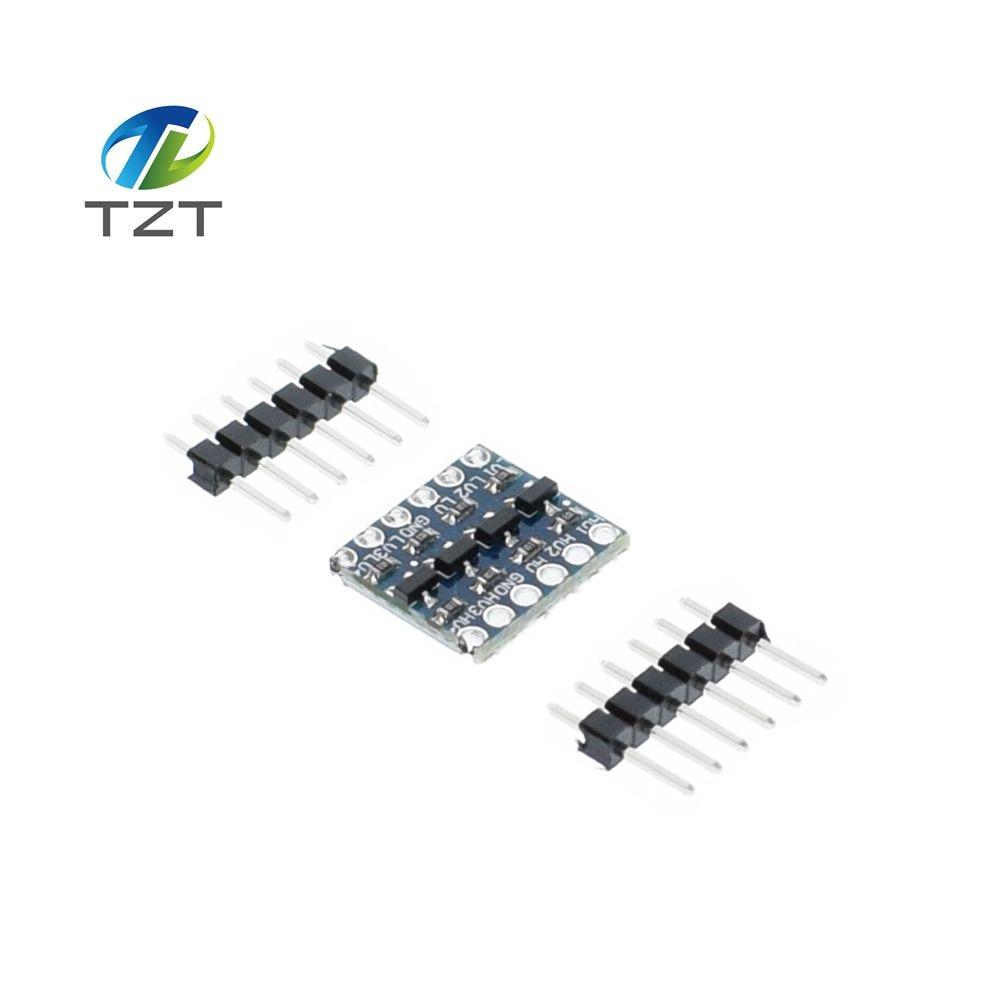 10pcs 4 channel iic i2c logic level converter bi directional module 5v to 3 3v