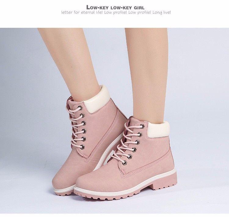 New Arrival Spring Autumn Boots Men PU Leather Unisex Style Fashion Male Work Shoes Lover Martin Boot 33