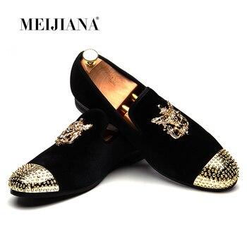 Мужские лоферы кожа Для мужчин повседневная обувь ручной работы модные удобные дышащие Мужская обувь