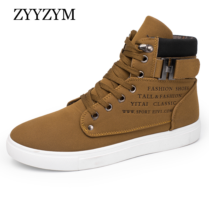 ZYYZYM Spring Autumn Men Casual Shoes Help Style Classic Rubber Fashion Sneakers Fur Man Shoes Hot Sale