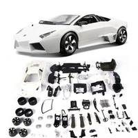 Bburago DIY Assembly Car Model White Gray Reventon Alloy Car Simulation Model 1:24 Sports Car Collection Color Box Package Toys