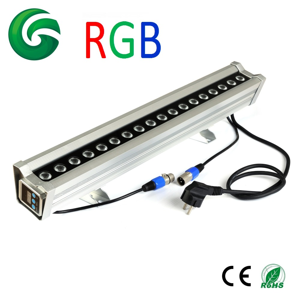 600mm 36W RGB LED Wall Washer light IP65 waterproof internal DMX controlled 100-240V AC flash led washer rgb ip34