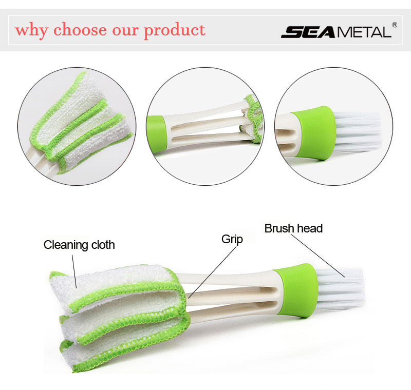 Car Dust Brush Cleaner Universal for Phone Screen Window Air Outlet Vent Clean Detailing Auto Cleaning Soft Brushes Accessories Color Name: Car Care