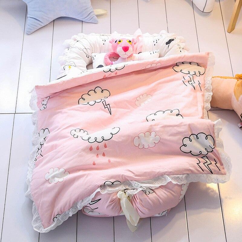 Детская кровать переносная детская кроватка Складная бионическая детская кровать Новорожденные и Tddlers детская дорожная детская кровать Ра...