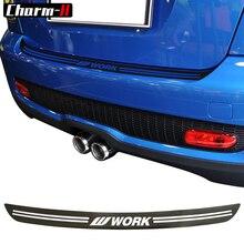 5D углеродного волокна винил заднего бампера багажника нагрузки края протектор Защита отделка наклейки для MINI Cooper S JCW R56 кабрио R57