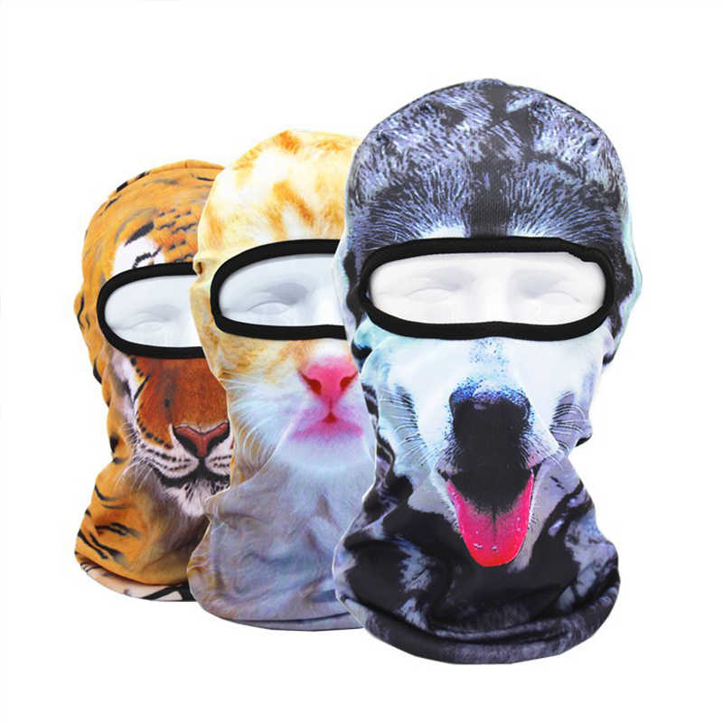 3D Cat Dog Animal Balaclava Bicycle Bike Hats Snowboard Tiger Party  Halloween Helmet Liner Winter Warmer e4a697fbd1