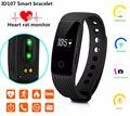ID107 Bluetooth 4.0 Inteligente Pulseira Monitor de Freqüência Cardíaca Banda 107 pulseira atividade rastreador de fitness para iphone xiaomi mi banda pk 2