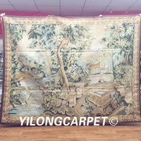 Yilong 5.3'x6.8' Real Gobelin Picture Tapestry Wall Hanging Pure Wool Handmade French Aubusson Tapestry (Au29 5.3x6.8)