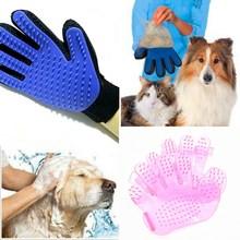 лучшая цена Pink&blue High-quality Dog Accessories Silicone Pet Brush Glove Dog Bath Pet Cleaning Supplies Pet Silicone Glove Dog Combs