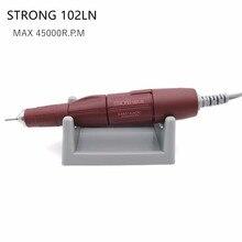 45,000rpm forte 102ln marrom lidar com arquivo bits unhas polisher arte caneta para forte 210 ou anc600 motor elétrico do prego brocas máquina