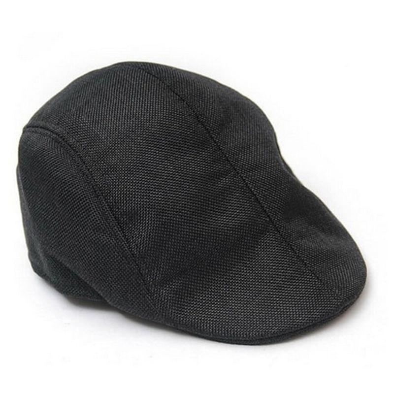 Womens Mens Cap Flat Cabbie Linen Beret Duckbill Golf Driving Travel Caps Hat Boina Fashion Newsboy Beret Hat Autumn&Winter Hats