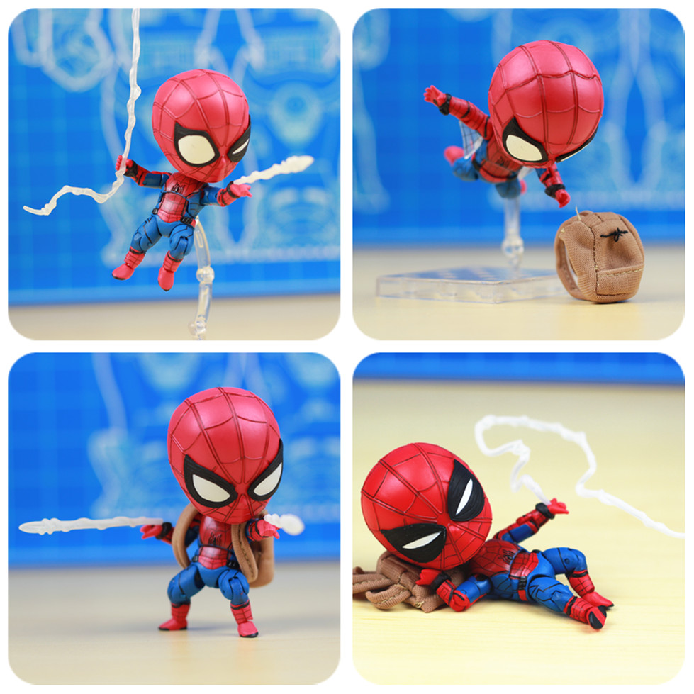 Marvel Homecoming Avenger Cute Iron Spiderman Spider Man 10cm Action Figure toys