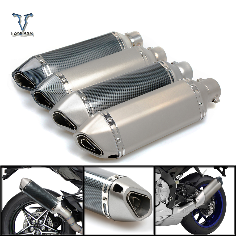 For carbon fiber motorcycle dirt bike exhaust pipe muffler silencieux moto escape aventura modificada For s1200 gs f800 gs mt10