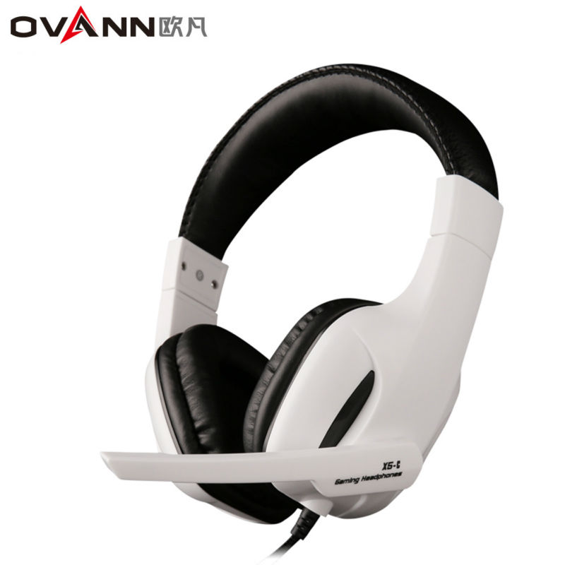 Ovann X5-C Over-ear Game Gaming Headphone Wired Headset Earphone Headband with Microphone Stereo Bass Without LED Light for PC cd 618 crack led light cool headphone with microphone bass stereo headset earphone wired usb pro for computer gamer headband pc