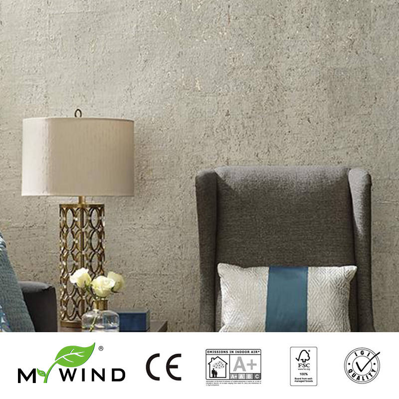 2019 MEU VENTO Textura cinza Luxo Bom gosto Wallpapers Luxo 100% Natural Material de Segurança e Inocuidade 3D Papel De Parede Em Rolo Decoração - 4