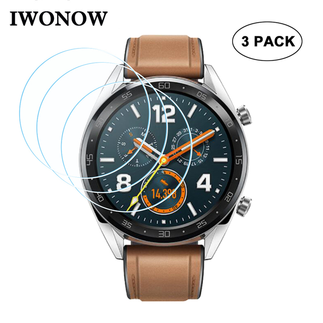 9H Hardness Tempered Glass for Huawei Watch GT Watchband Screen Protector Anti S