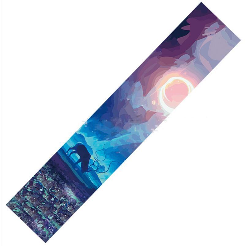 1pc 122x26cm Dancing Longboard Griptapes Long Board Grip Tape Skateboard Griptapes Anti-Slid Sandpaper Colorful Griptape