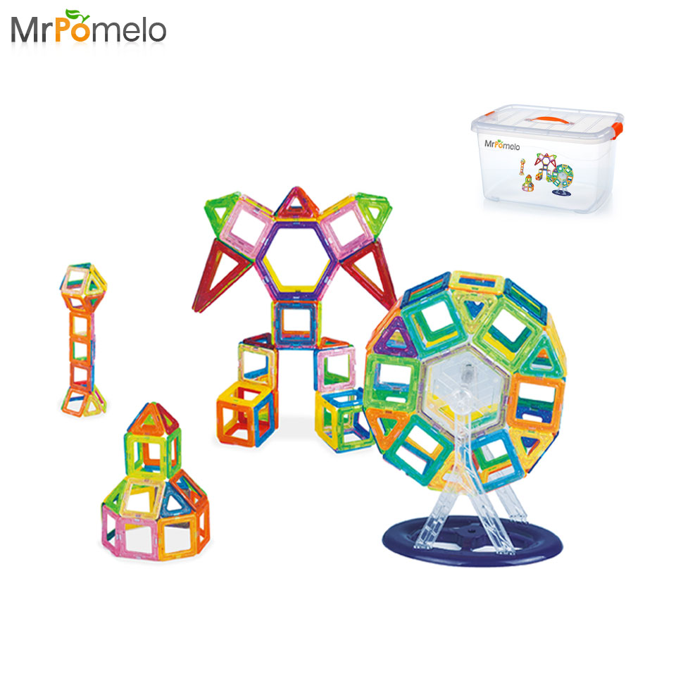 Online color wheel games - Mrpomelo Magnet Toys Ferris Wheel Designer Construction Set Model Building Magnetic Blocks Educational Toy For