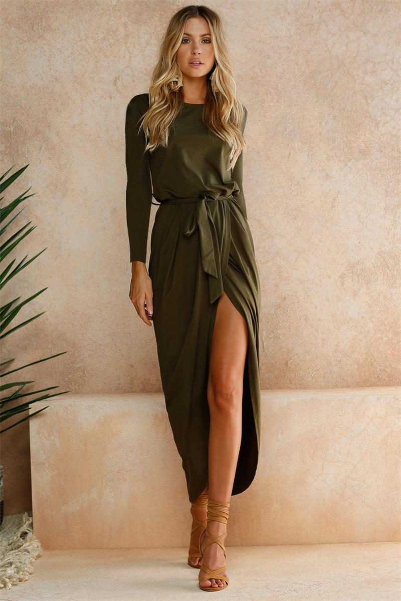 Sleeve Bodycon Party Dress