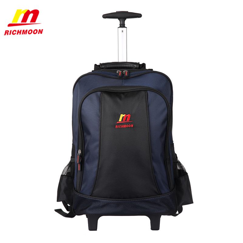Richmoon Laptop Backpack High Quality Fashion Trolley Luggage Bags Large Rolling Traveling Suitcase Casual Business Travel Bag 2016 new large capacity travel suitcase on wheels trolley bag rolling bag high quality polyester travel bags