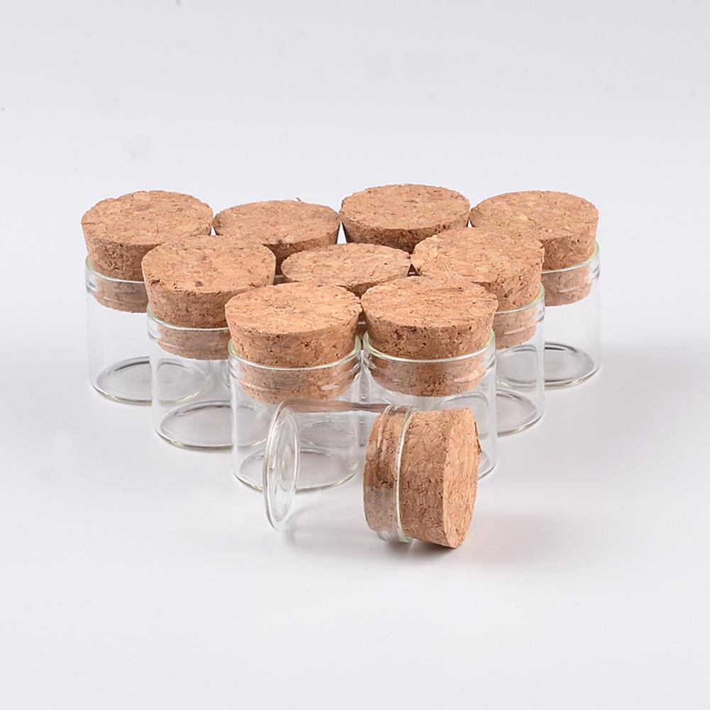 5ml Small Glass Vials Jars In Vitro Bottle With Corks Stopper Empty Glass Transparent Mason Jars Bottles5