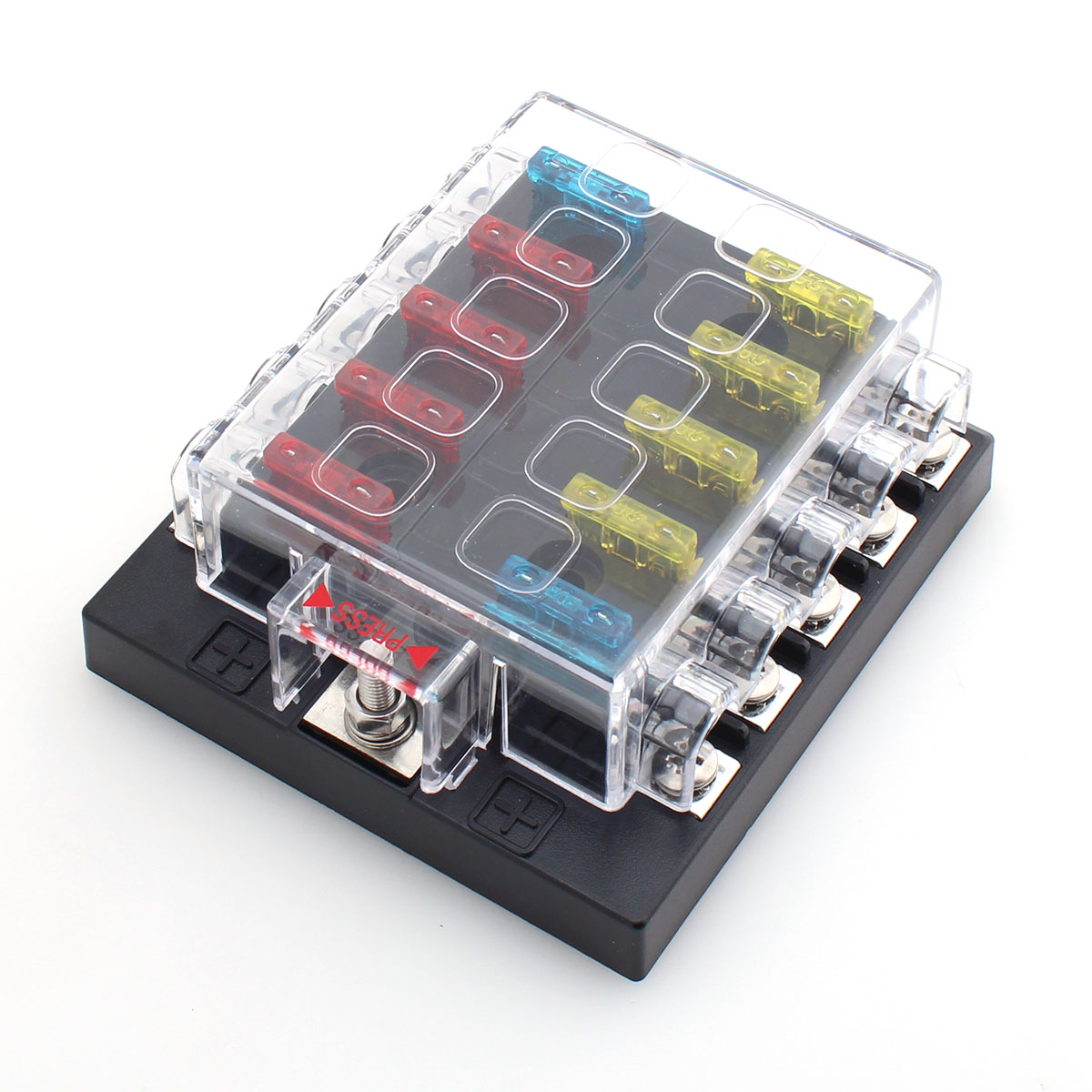 Fuse Box Bar Kit Wiring Library Motorcycle Holder 10 Way 24v 12v Blade Bus New Ato Atc Car