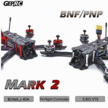 GEPRC GEP Mark2 Mark 2 Freestyle FPV Carbon Fiber Frame Kit Blheli-s 40A F4 Flight Control 5.8G VTX - DISCOUNT ITEM  0% OFF All Category
