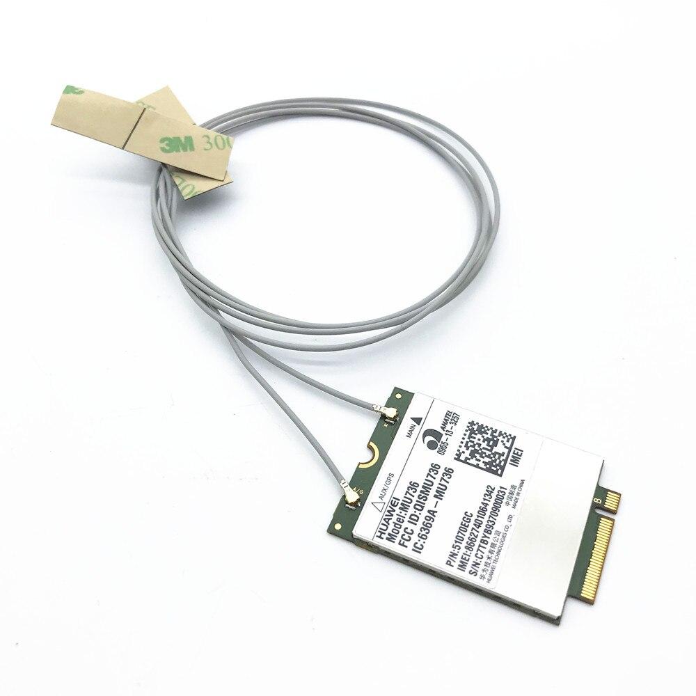 2 X MHF4 Laptop Antenna For N5321GW MU736 ME906E  EM7355 WWAN 3G/4G/LTE NGFF/M.2 For INTEL 7265 7260 8260 8265 Module 53cm/20.8