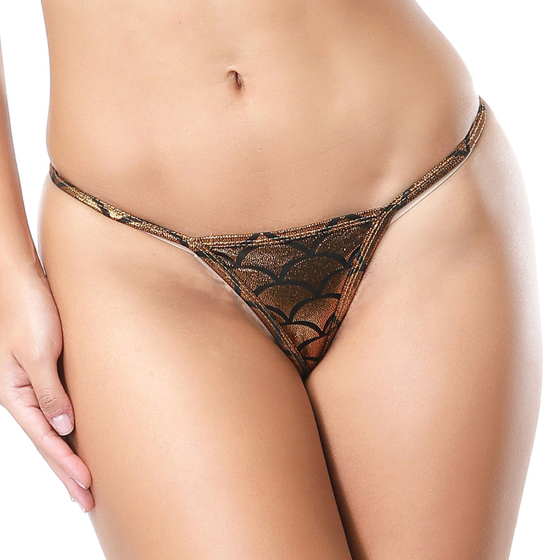 Women Sexy Micro Thong Seamless Panties Femme G String Womens Underwear Pu Leather Dessous Fetish Tanga Hipster Lingerie(China)
