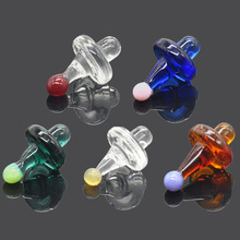 HORNET Premium Universal Solid Colored Glass UFO Carb Cap Dome for Water Pipes 38MM Dab Oil Rigs Quartz Banger Nails