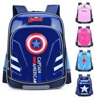New America Captain cartoon Schoolbag Boy Girl Children Kindergarten School bag Teenager Schoolbags Kids Student Backpacks