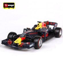 New Bburago 1:43 2017 F1 Formula 1 Red Bull Racing TAG Henuer RB12 No.33 NO.3 Max Verstappen Cars Diecast Metal Car Model Toy(China)