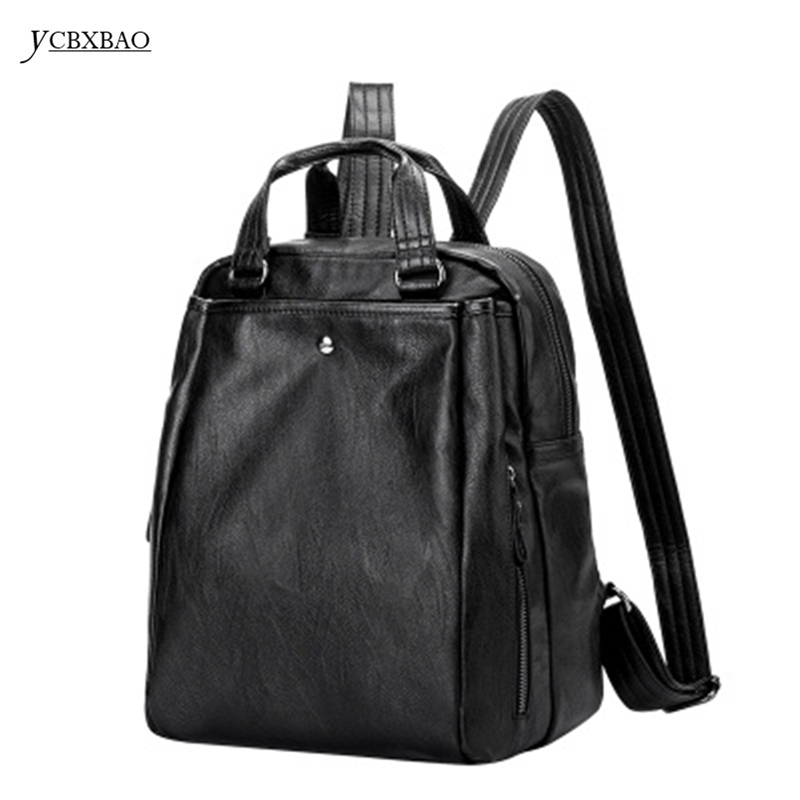 YCBXBAO 2018 School Bagpacks High Quality for Women Genuine Leather Backpacks Student Bags For Teenagers Girls Female Travel Bag new gravity falls backpack casual backpacks teenagers school bag men women s student school bags travel shoulder bag laptop bags